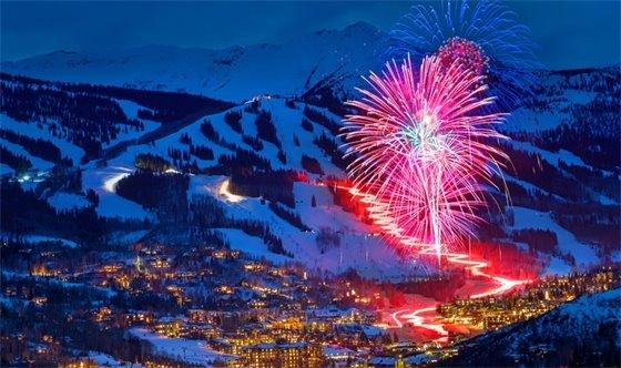 Fireworks over snowmass village