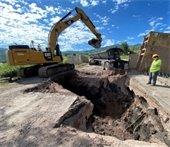 Brush Creek Road excavation