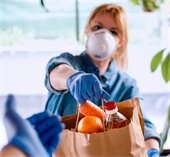 Food Distribution while wearing COVID PPE