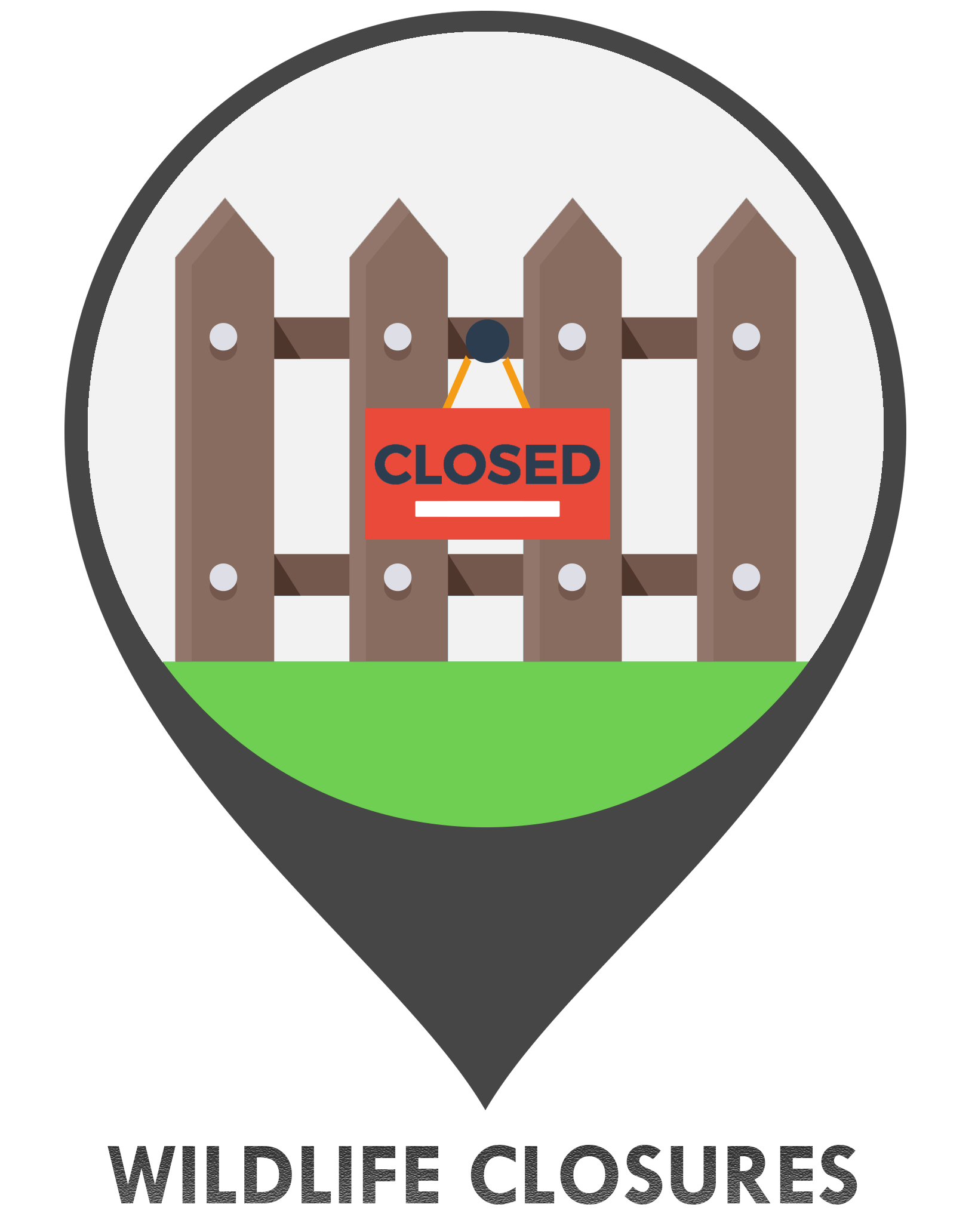 Wildlife area closures GIS Icon